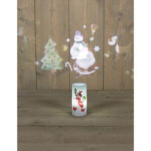 Vánoční LED svíčka s projektorem, sněhulák Nipeko 9430908