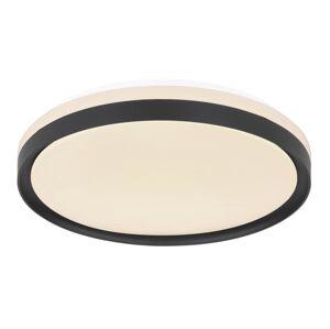 Stropní LED svítidlo na dálkové ovládání SONNY, 18W, stmívatelné, 39cm, kulaté, černé Globo SONNY 41587-18
