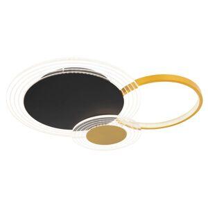 Stropní LED svítidlo na dálkové ovládání SENNA, 36W, stmívatelné, černozlaté Globo SENNA 67261-36