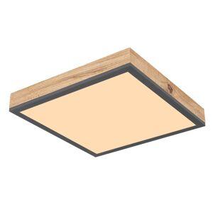 Stropní moderní LED svítidlo DORO, 12W, teplá bílá, 30x30cm, hranaté, MDF imitace Globo DORO 416080WD1