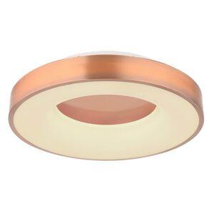 Stropní moderní LED osvětlení na dál. ovládání JOLLI, 30W, 40cm, kulaté, měděné Globo JOLLI 41758-30C