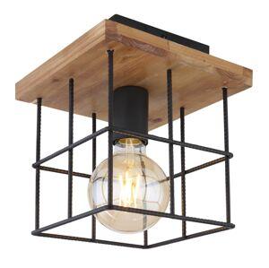 Stropní designové osvětlení MERRIL, 1xE27, 60W, hranaté, černé Globo MERRIL 15530-1D