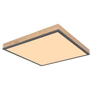 Stropní moderní LED svítidlo DORO, 24W, teplá bílá, 45x45cm, hranaté, MDF imitace Globo DORO 416080WD2