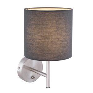 Nástěnné moderní osvětlení s vypínačem SANNA, 1xE14, 25W, antracitové Globo SANNA 15585W