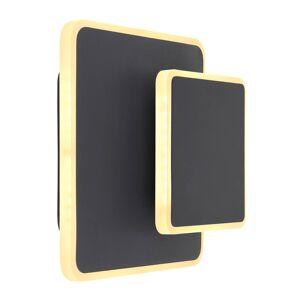 Nástěnné designové LED osvětlení MANY, 12W, teplá bílá, černé Globo MANY 78406S