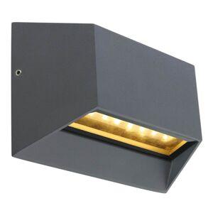 Venkovní nástěnné LED osvětlení HONNA, 7W, teplá bílá, antracitové, IP54 Globo HONNA 34175