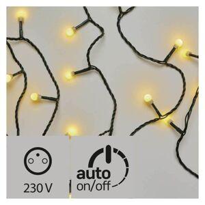 LED venkovní vánoční řetěz CHERRY, 300xLED, teplá bílá, 30m, časovač, kuličky, zelený Emos CHERRY D5AW04