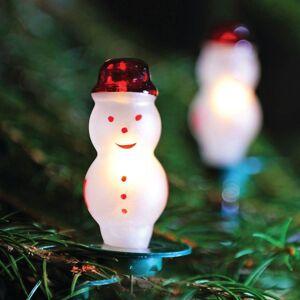Vánoční řetěz, 12 žárovek ve tvaru sněhuláků, bílé, 7,7m Exihand SNĚHULÁK 162113
