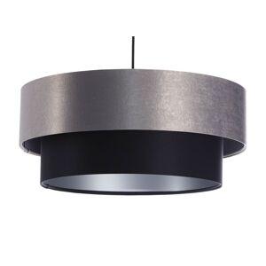 Moderní závěsné osvětlení DUO ELLEGANT, 1xE27, 60W, 40cm, šedočerné Bps DUO ELLEGANT 061-040-40CM