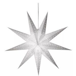 Závěsná vánoční papírová hvězda papírová, 1xE14, 60cm, bílá Emos STAR DCAZ09