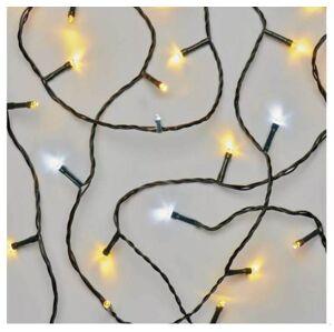 LED venkovní vánoční řetěz, 80xLED, 8m, teplá/studená bílá, časovač Emos D4AN04