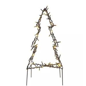 Venkovní LED zapichovací dekorativní vánoční strom, 90xLED, teplá bílá Emos DCZW05