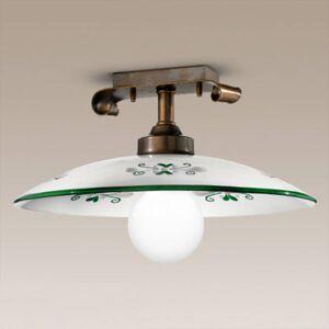 Cremasco Stropní světlo Bassano, detaily zelené