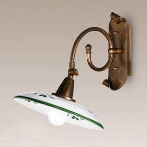 Cremasco Nástěnné světlo Bassano, detaily zelené