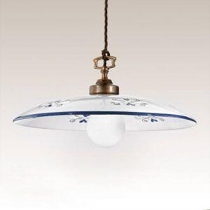 Cremasco Závěsné světlo Bassano, 1zdrojové, detaily modré