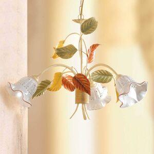 Ceramiche Závěsné světlo Flora florentinský styl třízdrojové