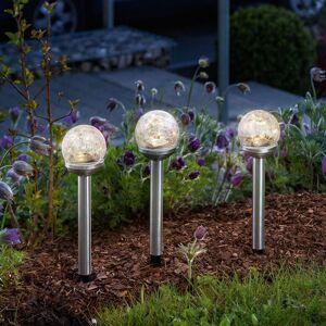 Esotec Solární LED světlo dekorativní Golden Balls 3ks