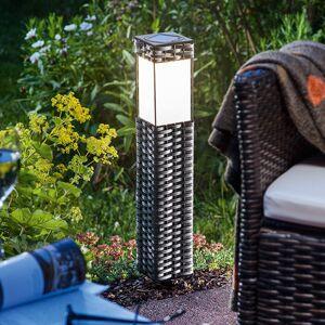 Esotec Solární stojací LED lampa Rattan – uni bílá