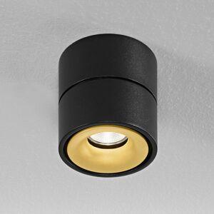 Egger Licht Egger Clippo LED stropní spot, černý-zlatá, 2700 K