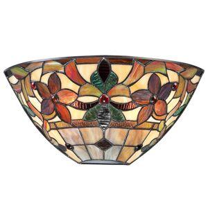 QUOIZEL Nástěnné světlo Kami ve stylu Tiffany