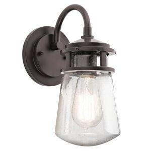 KICHLER Nástěnné světlo Lyndon, skleněné stínidlo 28,6cm