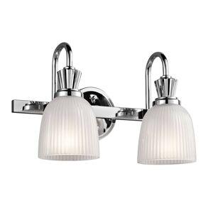 KICHLER LED nástěnné světlo Cora do koupelny 2 zdroje