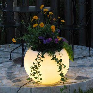 Epstein LED květináč Flora s baterií, 50 cm, bílé LED