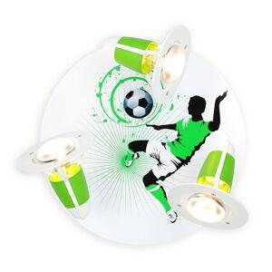 Elobra Stropní světlo Soccer, tři zdroje, zeleno-bílá