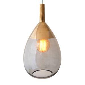 EBB & FLOW EBB & FLOW Lute závěsné světlo platin, sklo, šedá