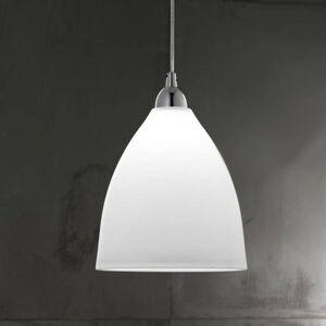 Fabas Luce Skleněné závěsné světlo PROVENZA, 20 cm, bílá