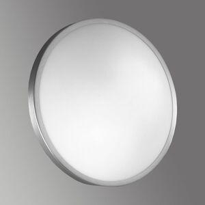 Fabas Luce Stropní a nástěnné světlo PLAZA ze skla 41 cm nikl