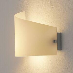 Fabas Luce Nástěnné světlo Moa, zakřivené skleněné stínidlo
