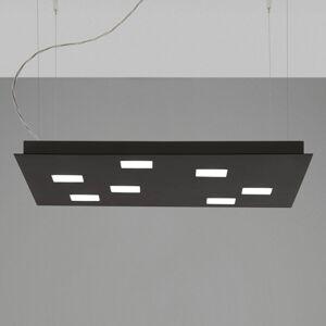 Fabbian Fabbian Quarter - černé závěsné světlo LED 7zdr
