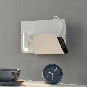 FARO BARCELONA Moderní LED nástěnné světlo Suau, USB nabíjení