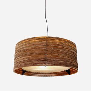 Graypants Závěsné světlo Drum z recyklovaného kartonu, 61 cm