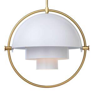 GUBI GUBI Multi-Lite závěsné světlo 32 cm mosaz/bílá