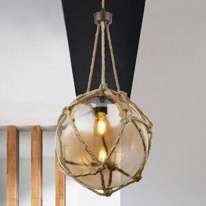 Globo Skleněné závěsné svítidlo Tiko, síť, Ø 30 cm