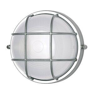 G & L HANDELS GMBH Nástěnné světlo 400180 kulaté s mřížkou, stříbrné