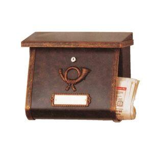 Heibi Ozdobná poštovní schránka MULPI hnědá-zlatá patina