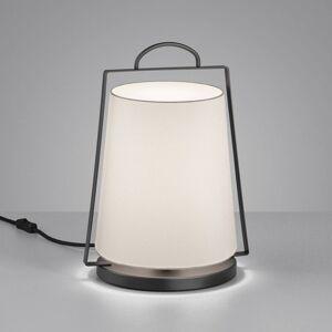 Helestra Helestra Uka stolní lampa, textilní stínidlo, bílá