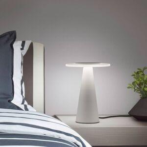 Helestra Helestra Bax stolní lampa, dotykový stmívač, bílá