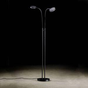 Holtkötter Holtkötter Flex Twin LED stojací lampa černá/černá