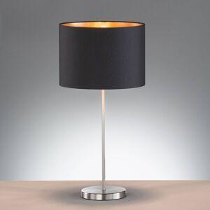 FISCHER & HONSEL Stolní lampa Loft s textilním stínidlem, černá