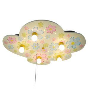 Niermann Standby Bunte Blumen - stropní světlo ve tvaru mraku s LED