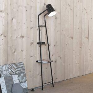 Karman Karman Alfred stojací lampa s poličkou černá matná