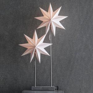 Markslöjd Stolní lampa papírová hvězda Duva, dvě hvězdy
