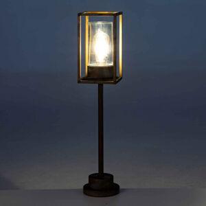 Moretti LUCE Osvětlení cesty Cubic³ 3370 mosaz antická/čirá