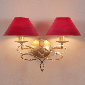 Menzel Menzel Sorent nástěnné světlo, 2 červená stínidla
