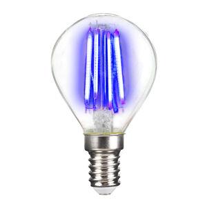 LIGHTME LED žárovka E14 4W Filament, modrá