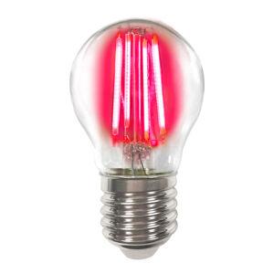 LIGHTME Barevná E27 4W LED žárovka Filament, červená